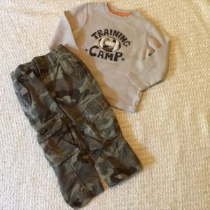 🏈Boys 3T Camouflage Football outfit